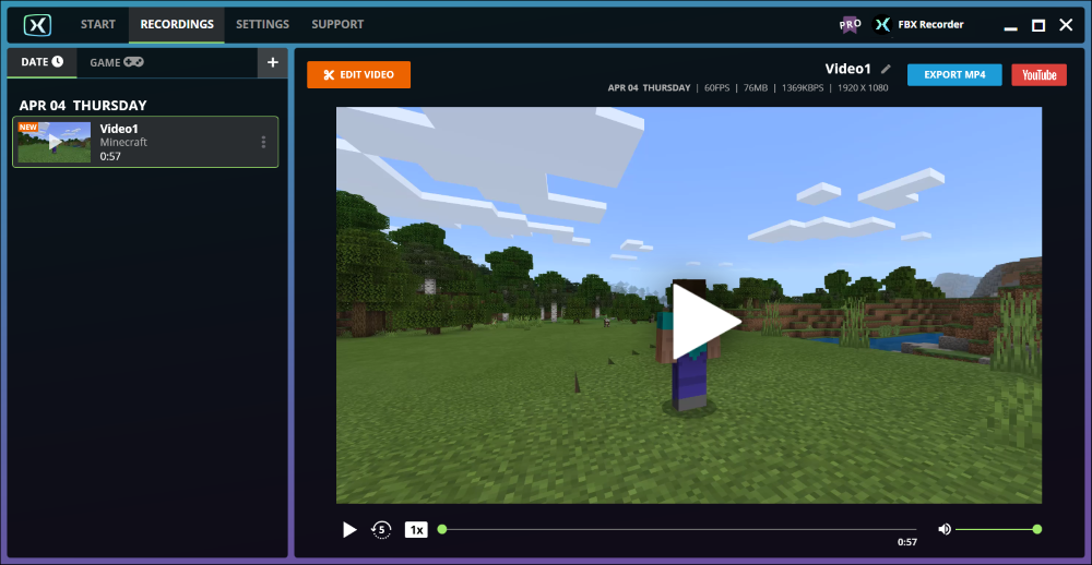 How To Record Minecraft Fbx